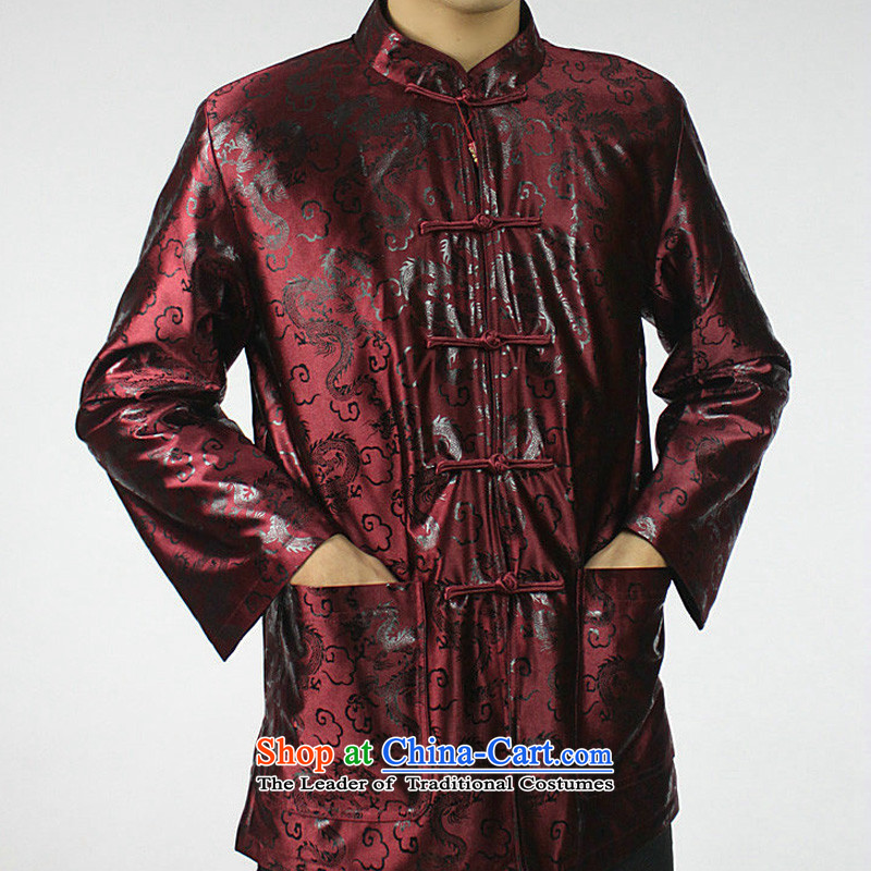 Mr Tang Dynasty poem federation male ãþòâ elderly men in Tang Dynasty 2015 winter folder manually replace disk cotton Tang detained national costumes Chinese collar jacket mauve 180/XXXL, Tang Bao Shi (lianbangbos federation) , , , shopping on the Interne