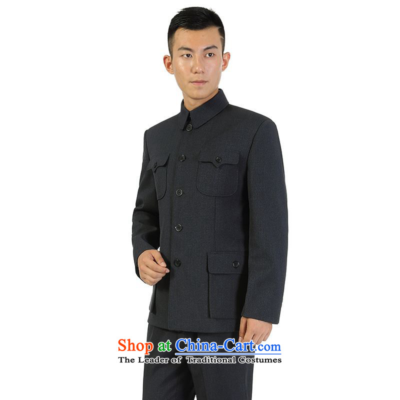 Yet the elderly in the floor of the building of men Chinese tunic kit installed for both business and leisure Zhongshan father services for older persons kit gray�