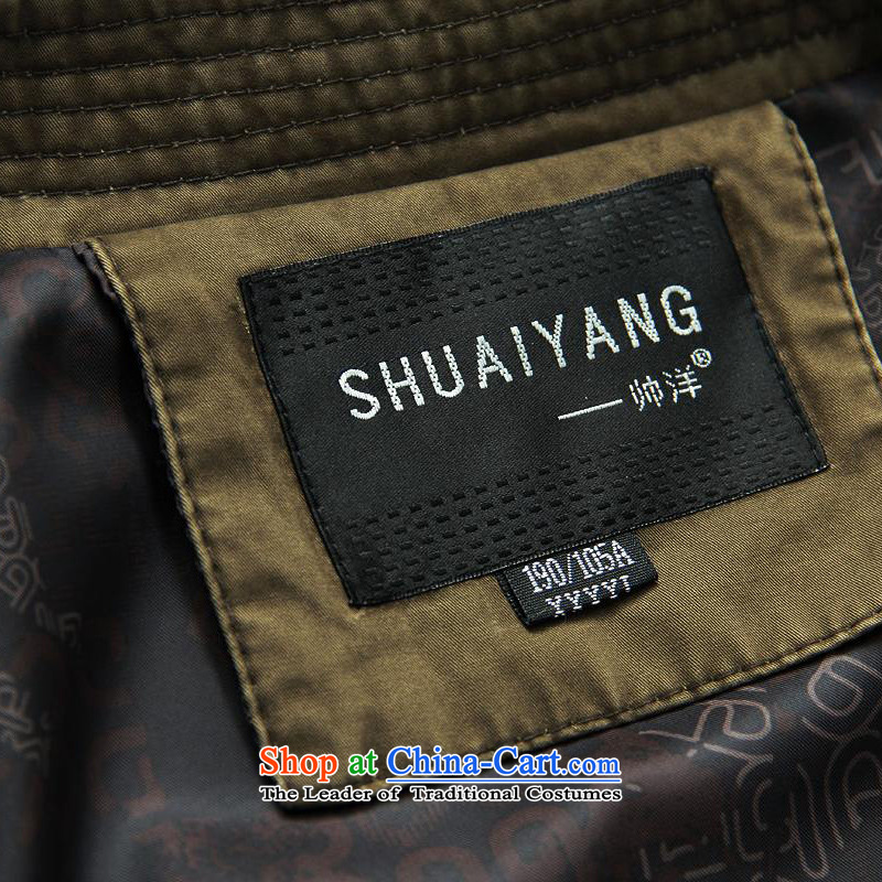 Replace spring and autumn 2015 Yang Shuai men Tang jackets national costumes Chinese Men's Mock-Neck jacket cotton wash process collar new Chinese tunic China wind men deep card its聽180, yang (Shuai SHUAIYANG) , , , shopping on the Internet