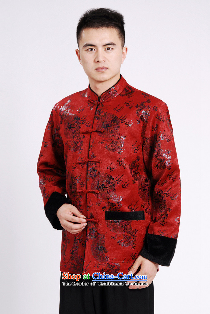 Dan smoke autumn and winter new Mock-Neck Shirt Zhongshan Tang dynasty and flat, lint-free cloth mink gross cotton in the thick of the Chinese Tang dynasty male red L picture, prices, brand platters! The elections are supplied in the national character of distribution, so action, buy now enjoy more preferential! As soon as possible.