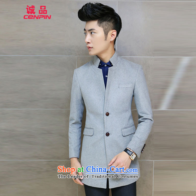 Eslite Zhongshan For Korean men in Sau San Long Hoodie jacket?DF01 trend?Gray?L