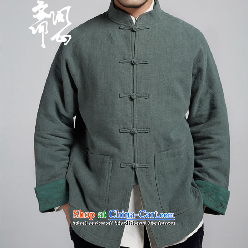 Q Shinsaibashi represented a health (New) Men's men Tang dynasty improved with a color scheme of the sleeve jacket WXZ1106 robe green聽M, Q heart of Ramadan , , , shopping on the Internet