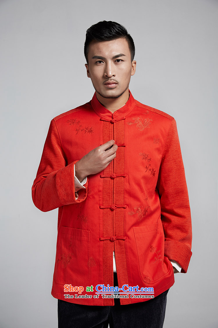 Q Shinsaibashi represented a health (New) Men's men's winter coats improved Tang Dynasty Chinese Disc detained stitching shirt WXZ1102 red-orange L picture, prices, brand platters! The elections are supplied in the national character of distribution, so action, buy now enjoy more preferential! As soon as possible.