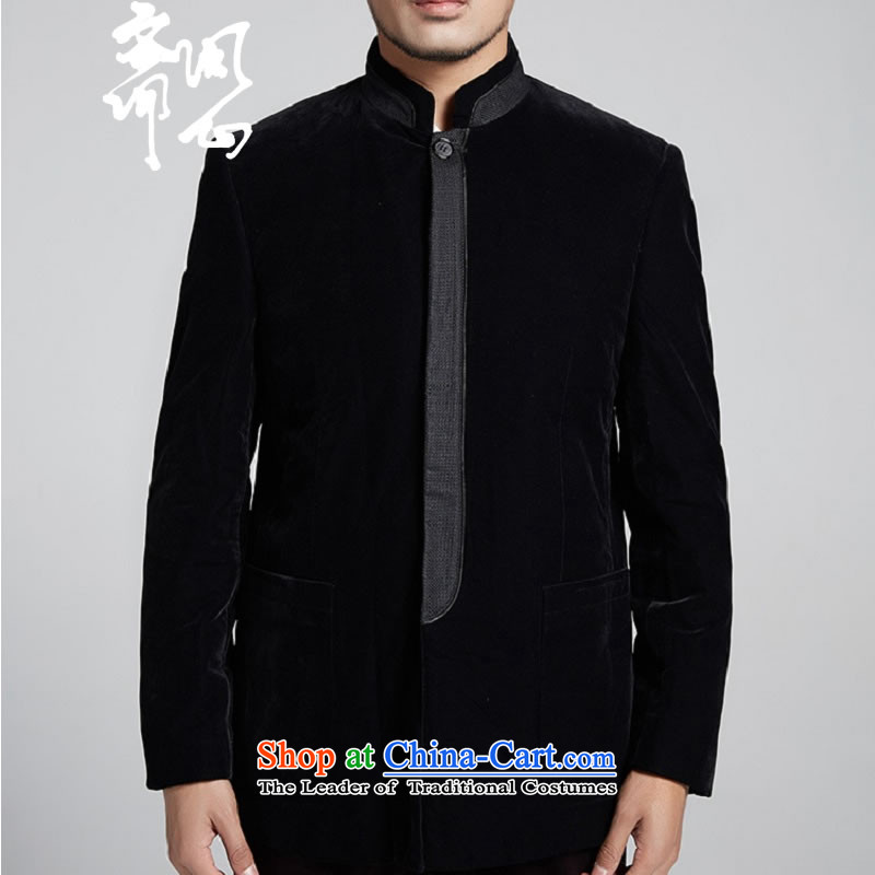 Q Shinsaibashi represented a health (New) Men winter coats collar Chinese improved Sau San Men's Mock-Neck Chinese tunic WXZ1091 black?L
