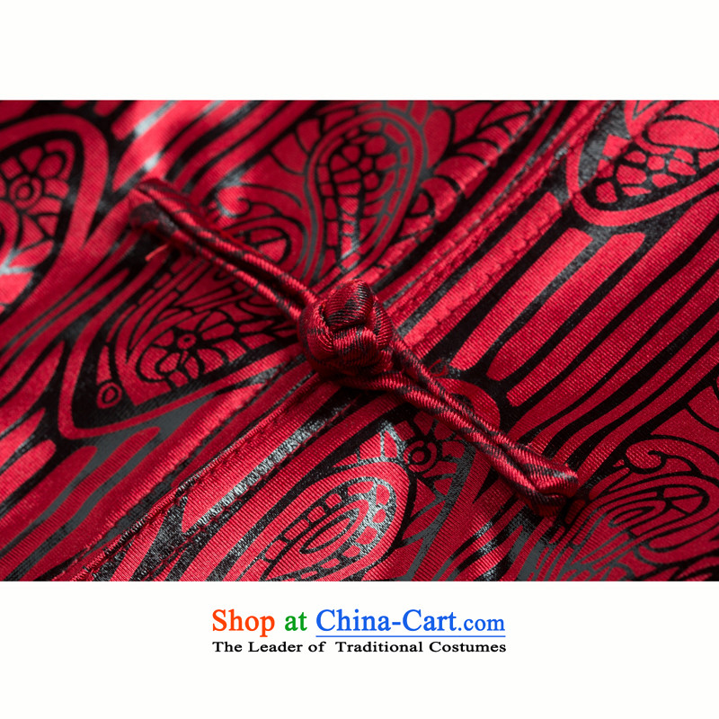 Thre line autumn and winter and new product men Tang dynasty China wind the elderly in the countrysides Chinese collar birthday gifts cotton coat father replacing F1137 wine red cotton聽M/170, plus thre line (gesaxing and Tobago) , , , shopping on the Inte
