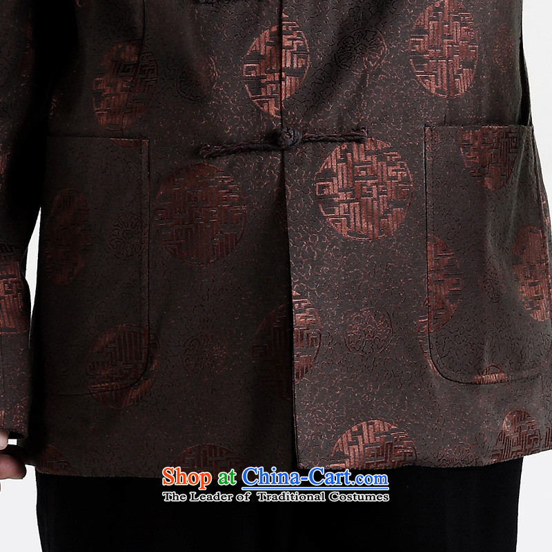 聽The elderly in the Tang dynasty gakka Tang dynasty older men's jackets of older persons and Tang dynasty autumn and winter clothes Brown聽, L, click G (GAKKA) , , , shopping on the Internet