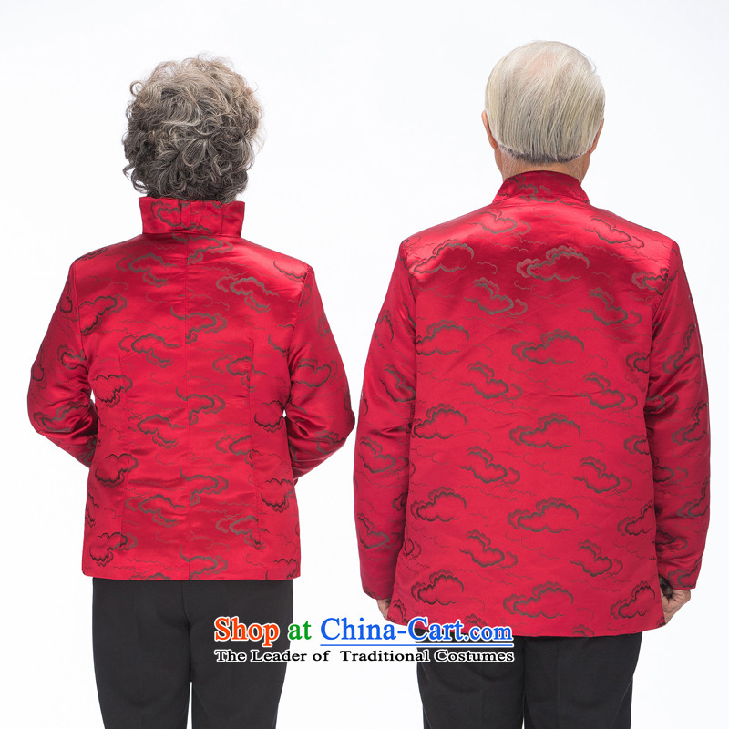 Bosnia and in autumn and winter thre line of older men Tang dynasty long-sleeved plus Cotton Men and women to live a happy life for couples with聽F0790 Xiangyun聽women wine red women 4XL, thre line (gesaxing and Tobago) , , , shopping on the Internet