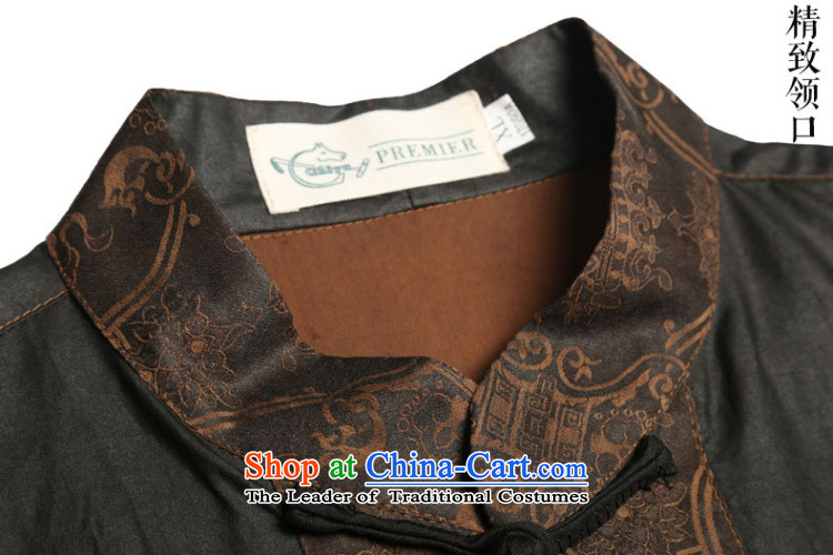 Renowned men silk short-sleeved Tang Dynasty Chinese shirt Men's Shirt herbs extract cloud of incense yarn men's short-sleeved black Large Tang dynasty 175 pictures, prices, brand platters! The elections are supplied in the national character of distribution, so action, buy now enjoy more preferential! As soon as possible.
