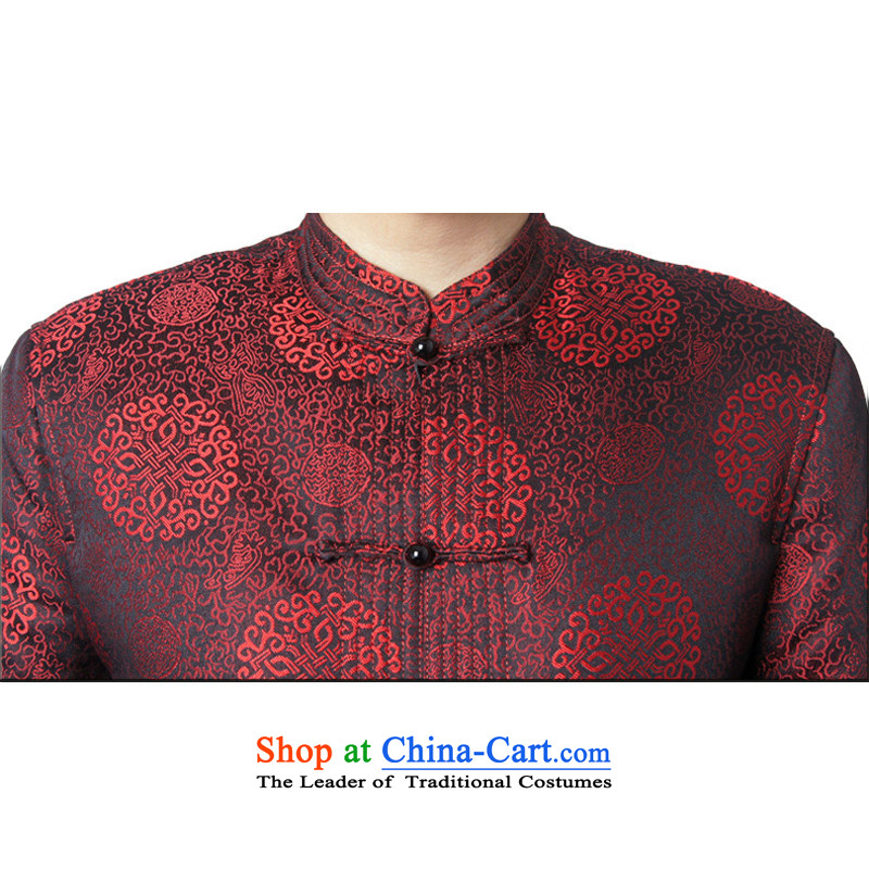 The original innovation line thre Bosnia and in Tang Dynasty replace older winter new cotton coat father replacing Tang clamp cotton shirt聽FD-14016 Espresso Wine red聽XXXL/190, thre line (gesaxing and Tobago) , , , shopping on the Internet