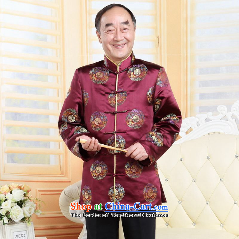 To Jing Ge older couples with Tang dynasty China wind collar dress the wedding service life will red men?XXL