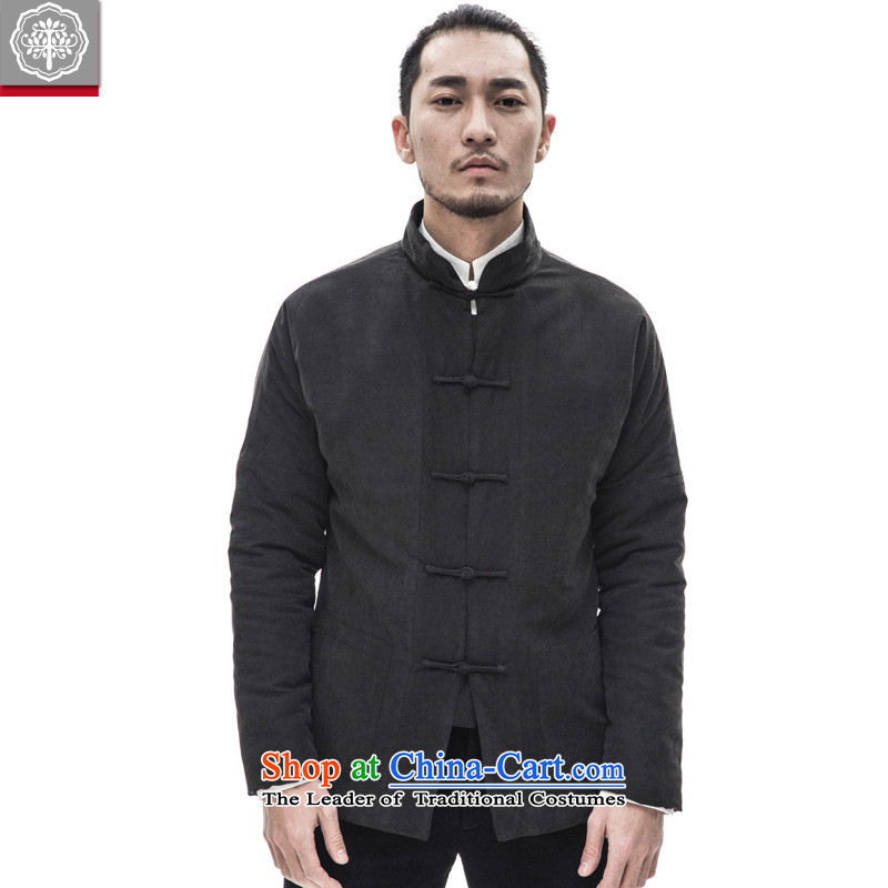 To Tree China wind men Tang Dynasty Chinese men jacket thick cotton clothes for winter Hyun-seok-color