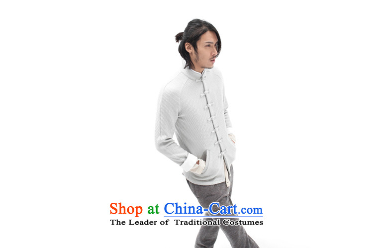 Seventy-tang China wind original woolen knitted jacket stylish Sau San Tong jackets Chinese improved plug-ins construction sleeved shirt national detained retro High End Disk men light gray XL Photo, prices, brand platters! The elections are supplied in the national character of distribution, so action, buy now enjoy more preferential! As soon as possible.