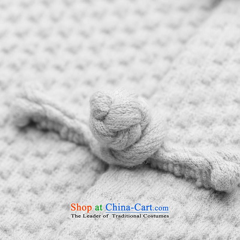 Seventy-tang China wind original woolen knitted jacket stylish Sau San Tong jackets Chinese improved plug-ins construction sleeved shirt national detained retro High End Disk men light grayXL, Tsat Tang (seventang design shopping on the Internet has been