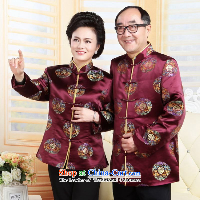 Shanghai, optimization options in Tang Dynasty older couples with collar China wind dress the wedding service life will red women?XL