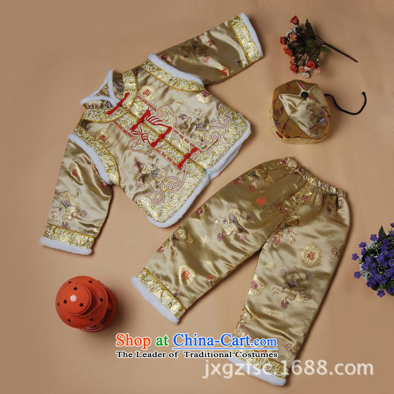 Shanghai, optimization options for autumn and winter by Tang Dynasty Tang dynasty children new robe boy children robe?X189-a Staphylococcus?XXL