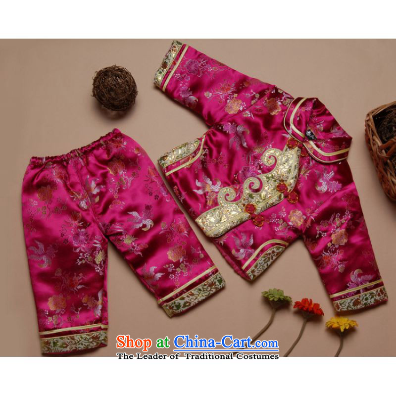Shanghai, optimization options for autumn and winter by Tang Dynasty Tang dynasty children new robe girls children?X192-a robe mauve?L XXL