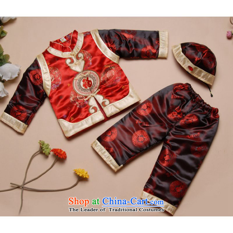 Shanghai, optimization options for autumn and winter by Tang Dynasty Tang dynasty children new robe boy children燲188 robe red燣