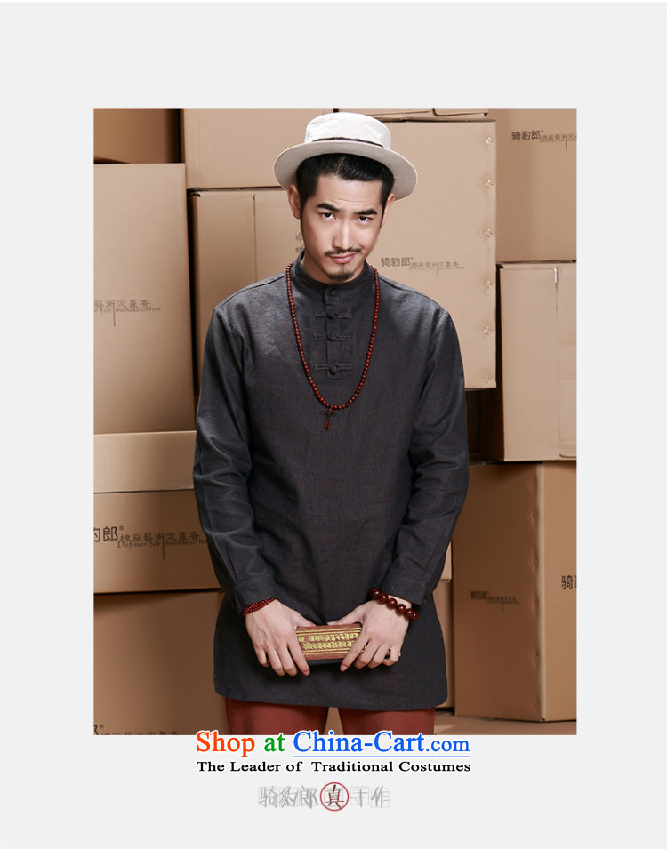 Jockeys Leopard Health Tang dynasty China Wind Jacket men's 2015 new cotton linen long T-shirts for larger improved Han-designer brands carbon XL Photo, prices, brand platters! The elections are supplied in the national character of distribution, so action, buy now enjoy more preferential! As soon as possible.