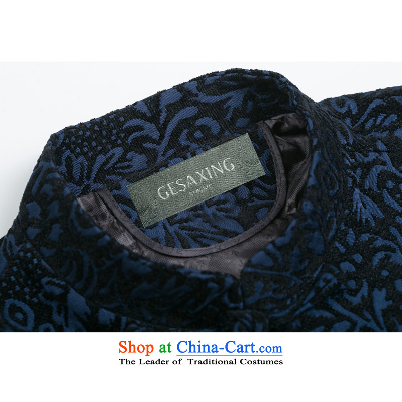 Thre line autumn and winter and new jacquard long-sleeved jacket Tang National wind in older collar disc detained jacquard chenille Tang dynasty F0716 Red Winter load dad)聽thre Bosnia and lines (XXXL/190, gesaxing) , , , shopping on the Internet