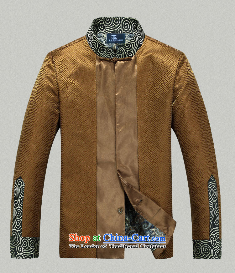 - Wolf JEYA-WOLF, 2015 New Tang Dynasty Men's Shirt, autumn and winter jackets with leisure silk shawls, purple聽165/S picture, prices, brand platters! The elections are supplied in the national character of distribution, so action, buy now enjoy more preferential! As soon as possible.