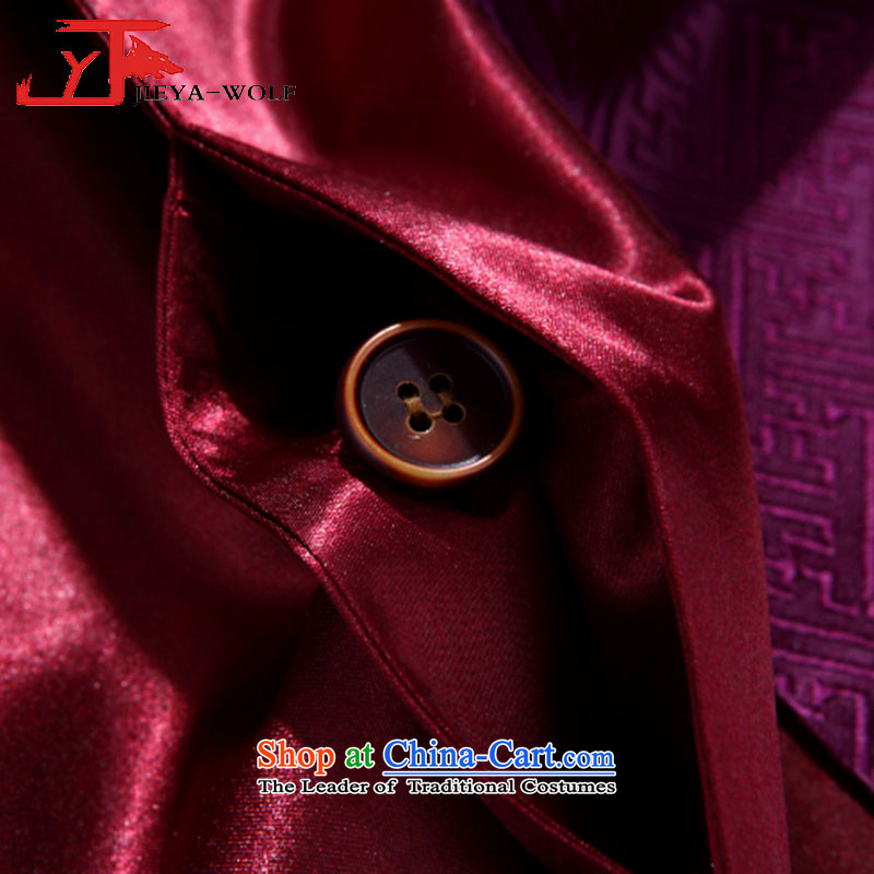 - Wolf JEYA-WOLF, 2015 New Tang Dynasty Men's Shirt, autumn and winter jackets with leisure silk shawls, purple聽165/S,JIEYA-WOLF,,, shopping on the Internet