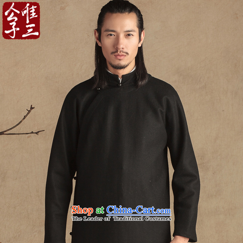Cd 3 model teacher China wind wool? need to grow up flap use Tang dynasty male Han-Sau San National Chinese Winter Black Large (L)