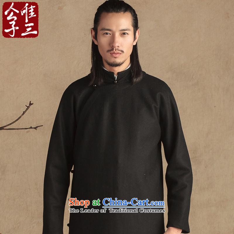 Cd 3 model teacher China wind wool? need to grow up flap use Tang dynasty male Han-Sau San National Chinese Winter black jumbo XL