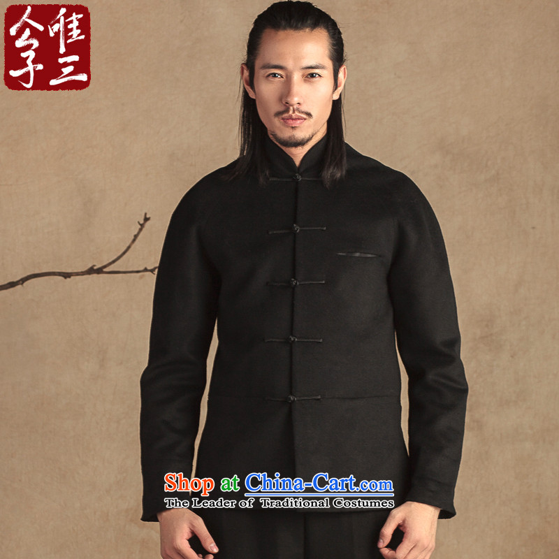 Cd 3 model auspicious China wind Tang Dynasty Recreation and wool Chinese tunic collar jacket? National Autumn and winter clothing in the new Black Hyun (M)