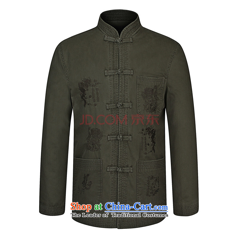 Nigeria following the new spring 2015_ older boys father installed China wind collar men Tang jacket khaki�5