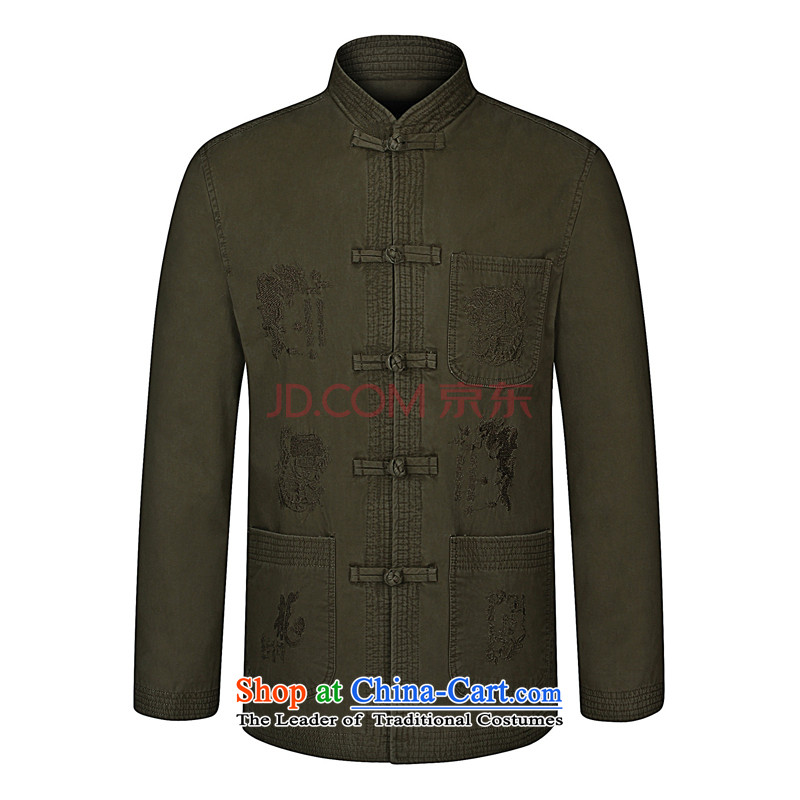 Rui and Diana 2015 Spring New elderly men's father installed China wind collar men Tang jackets pickled color聽185