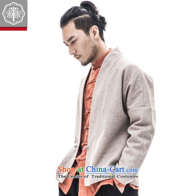 To Tree China wind male Han-to-thick cotton linen long-sleeved sweater winter Chinese men ball-Tang Dynasty to the color of aloes giant tree (EYENSREE) , , , shopping on the Internet