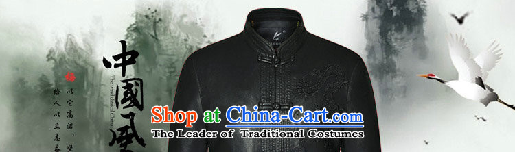 Dan smoke spring and fall in the new elderly men's leather garments Tang dynasty father loaded collar Tang Dynasty Chinese tunic black leather garments180 pictures, prices, brand platters! The elections are supplied in the national character of distribution, so action, buy now enjoy more preferential! As soon as possible.