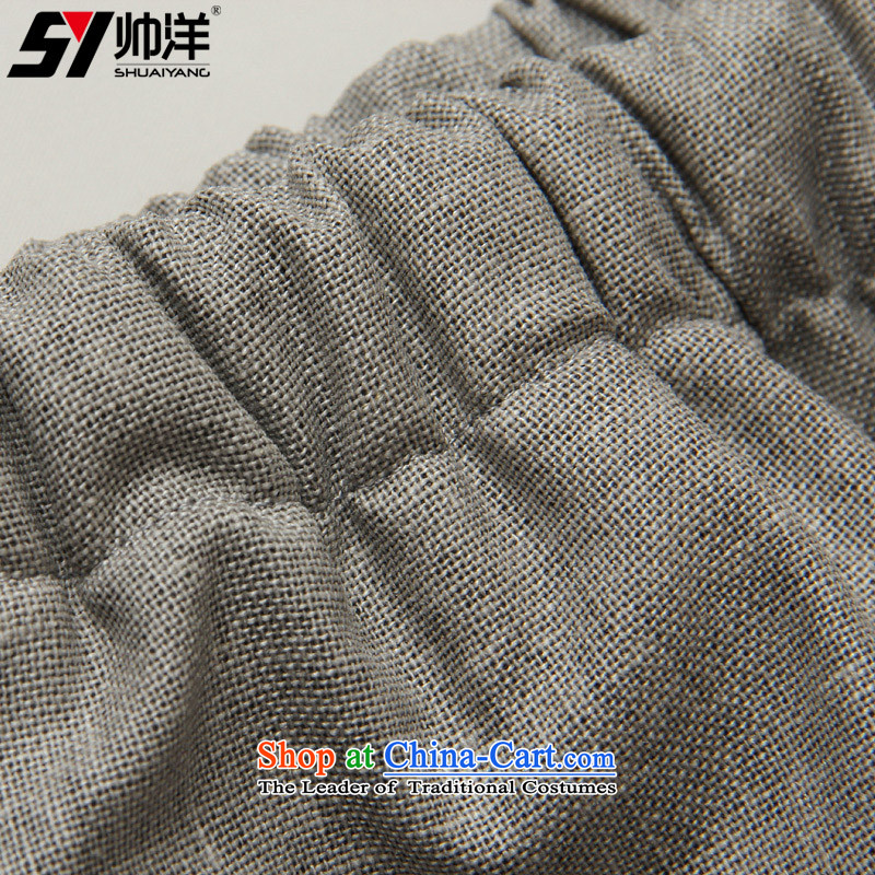 Spring 2015 Yang Shuai men linen pants China Wind Pants and Tang Chinese spring and summer comfort and breathability men's trousers, wild, elastic waist with drawcord Ma Tei (gray trousers) 40/170, Shuai Yang (SHUAIYANG) , , , shopping on the Internet