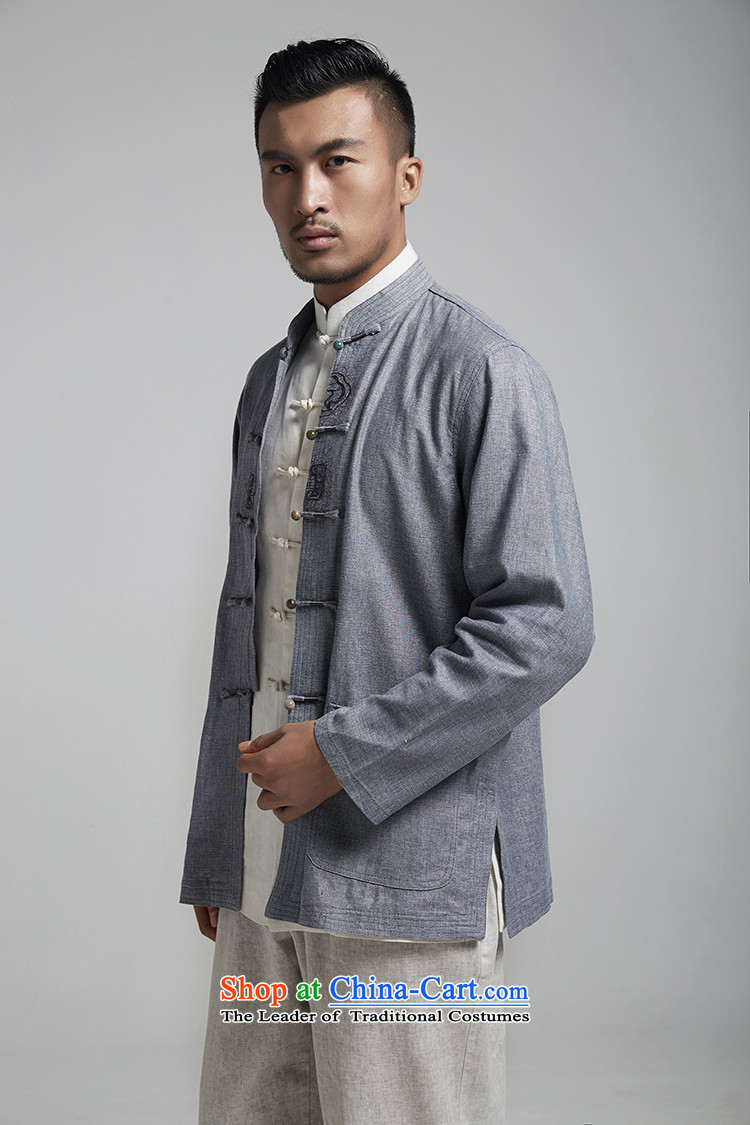 Q Shinsaibashi represented a health spring (men's new men linen collar jacket embroidered jacket 1787 carbon Chinese XXL 180/100 Photo, prices, brand platters! The elections are supplied in the national character of distribution, so action, buy now enjoy more preferential! As soon as possible.