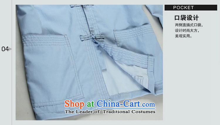 Shuai 2015 China wind and ocean long-sleeved shirt collar men Tang blouses manually tray clip retro spring Chinese men's shirts and comfortable soft blue聽41/175 picture, prices, brand platters! The elections are supplied in the national character of distribution, so action, buy now enjoy more preferential! As soon as possible.