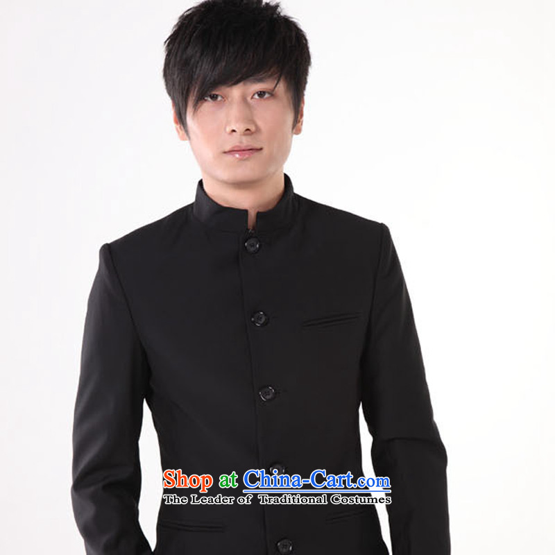 With the Chinese ancient clothing of the Republic of Korea May 4th Movement with wind male students graduated from Chinese tunic suit summer black?M