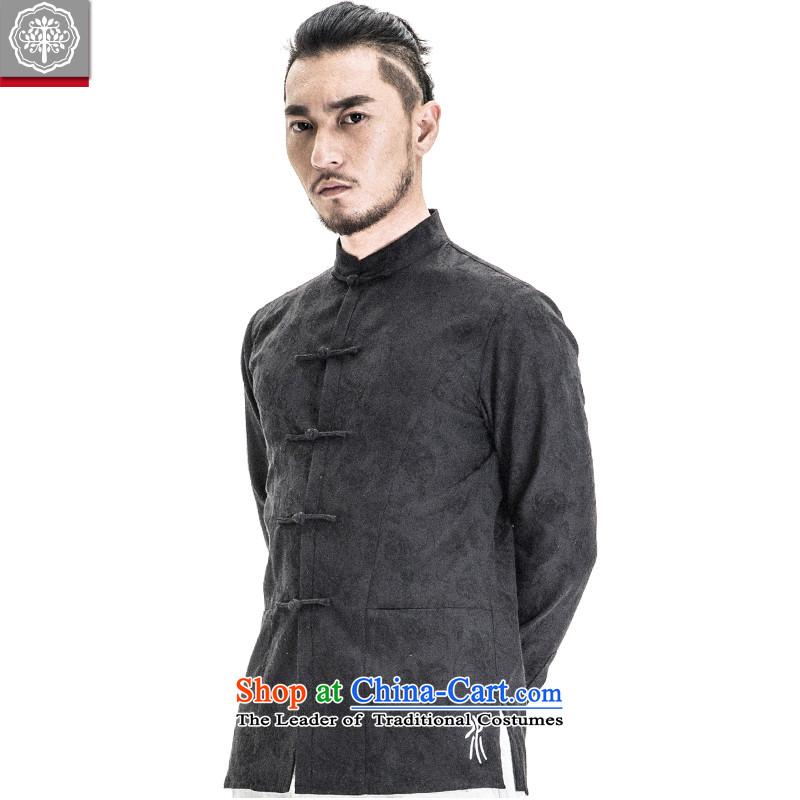 To new spring 2015 Tree China wind Tang replacing men's shirts Mock-Neck Shirt Chinese long-sleeved Sau San men bamboo cyan small, tree (EYENSREE) , , , shopping on the Internet