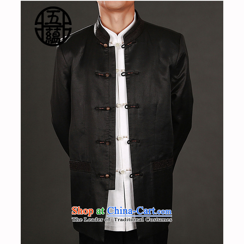 Azzu (azouari) Heung-cloud yarn- Chinese men's jackets and refined, deep coffee-colored manually manually?48