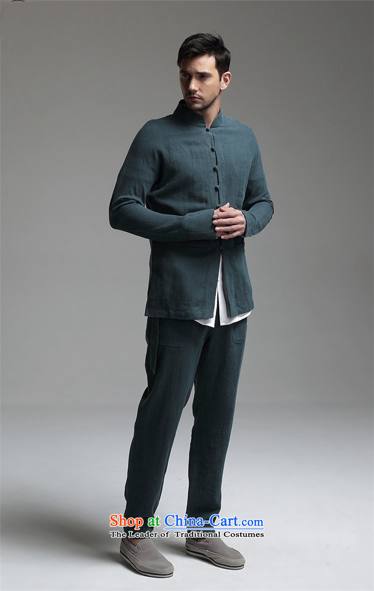 Azzu defense (azouari) China wind men linen collar Chinese long-sleeved sweater pants + White聽L picture, prices, brand platters! The elections are supplied in the national character of distribution, so action, buy now enjoy more preferential! As soon as possible.