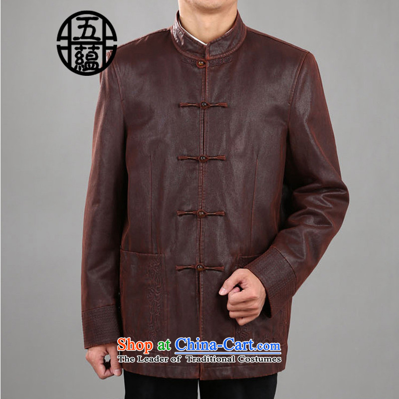 Azzu _azouari_ defense men's jackets leisure retro Tang men dark red聽54