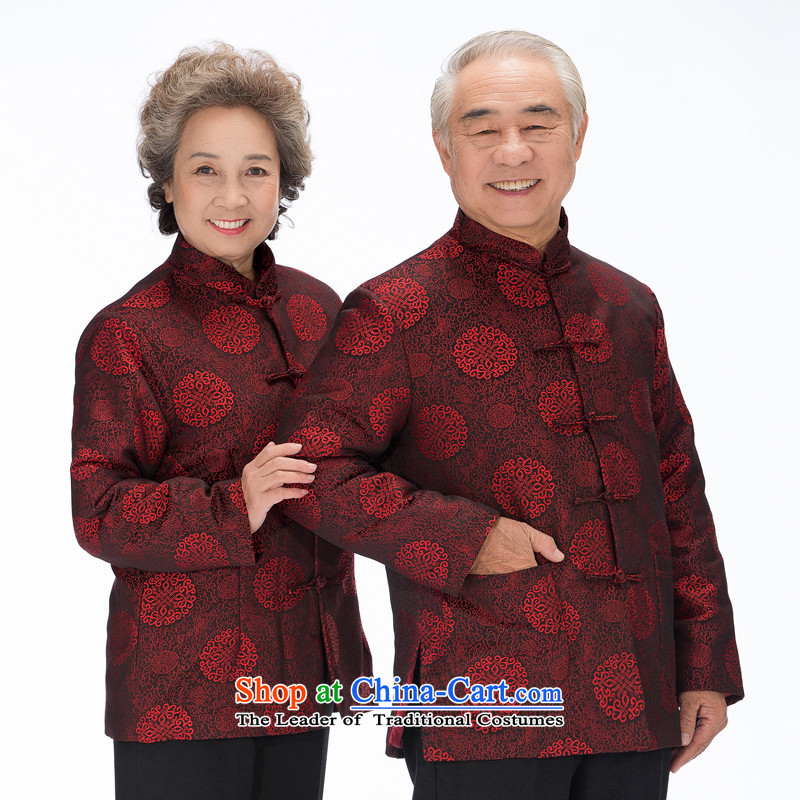 Bosnia and thre national costumes in line of older persons for winter female couple of cotton in the design of the Tang dynasty older 泾蜮 winter of the爌aragraph, couples F2070 men men L_175