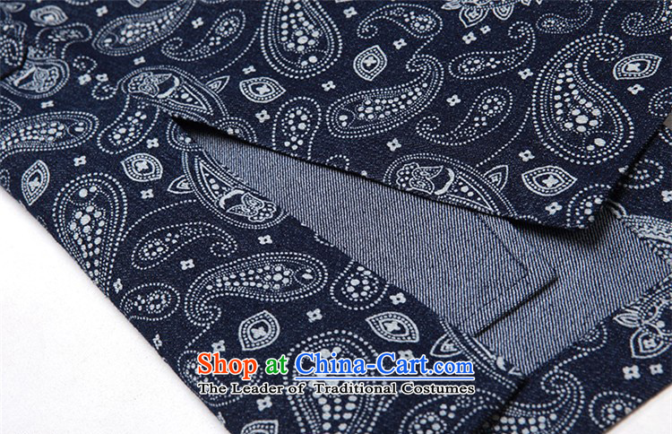 Azzu defense (azouari) China wind men Sau San Tong Replace l jacket, dark blue patterned聽M picture, prices, brand platters! The elections are supplied in the national character of distribution, so action, buy now enjoy more preferential! As soon as possible.