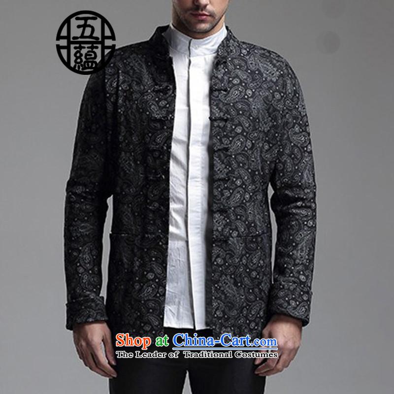 Azzu defense (azouari) China wind men Sau San Tong Replace l jacket, dark blue聽, floral azzu AZOUARI () , , , shopping on the Internet