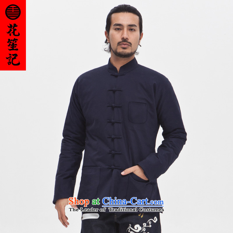 His Excellency spent his Excellency credited China wind fields and men and Sau San Tong Chinese thick cotton robe with service long-sleeved jacket coat (L), black large flower (HUSENJI Polisario) , , , shopping on the Internet