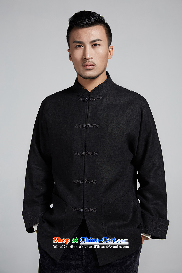De-tong building cannot be refined improvement of older men's jackets personalized embroidery disc detained leisure long-sleeved shirt China wind men black聽52/3XL picture, prices, brand platters! The elections are supplied in the national character of distribution, so action, buy now enjoy more preferential! As soon as possible.