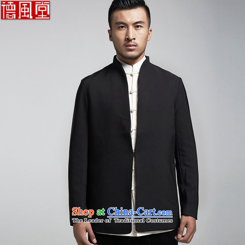 Fudo Han-LUNG TAK MAN Tang dynasty dress China wind long-sleeved sweater dinner hosted Sau San wedding clothes black�M