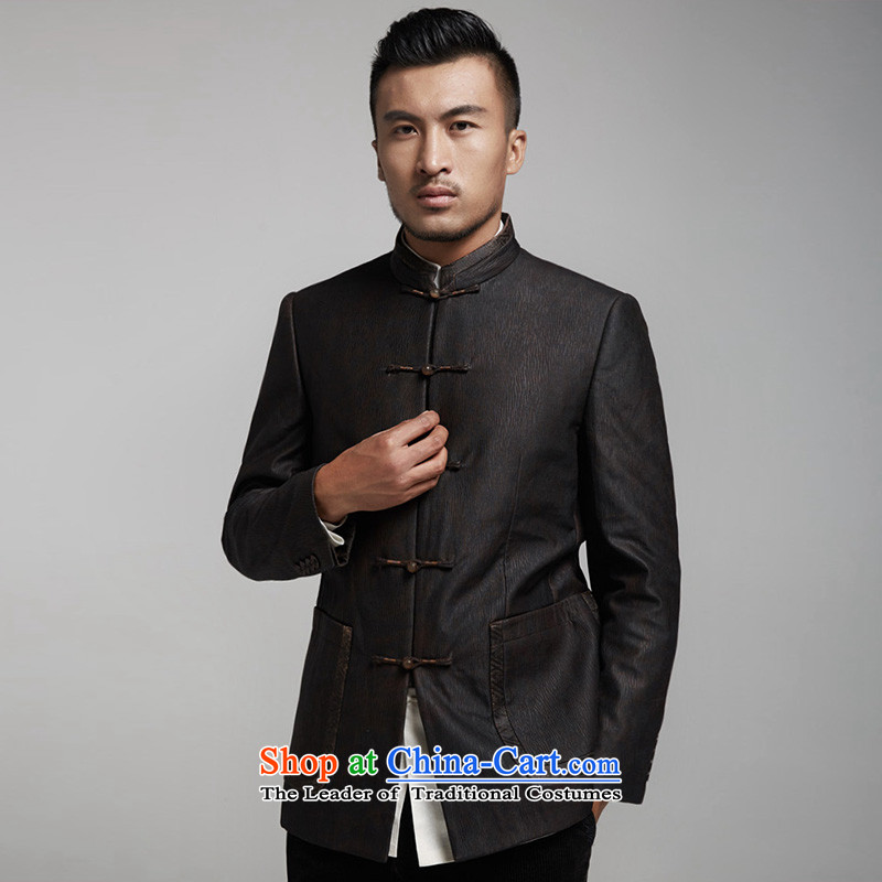 De Fudo Ienti cloud of incense yarn thin robe men Tang jackets Sau San Business Professional upscale China wind of men by 2015 autumn and winter, Black聽46/170, de fudo shopping on the Internet has been pressed.