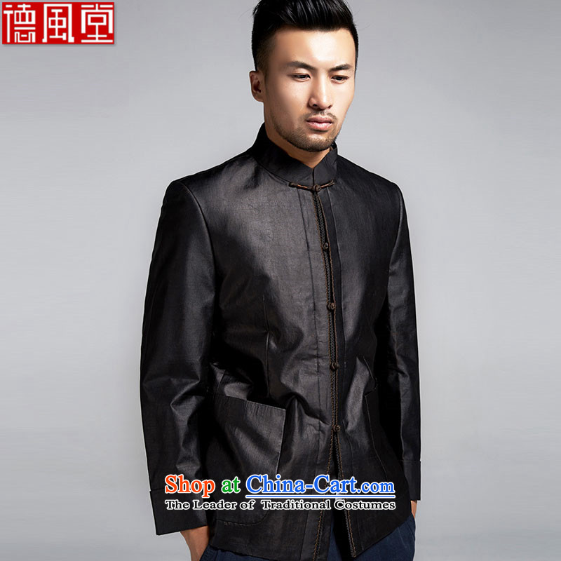 Fudo Tianci Tang Tak replacing men Sau San Chinese jacket incense cloud yarn anti-wrinkle improved China wind men in spring and autumn 2015 Black聽XL