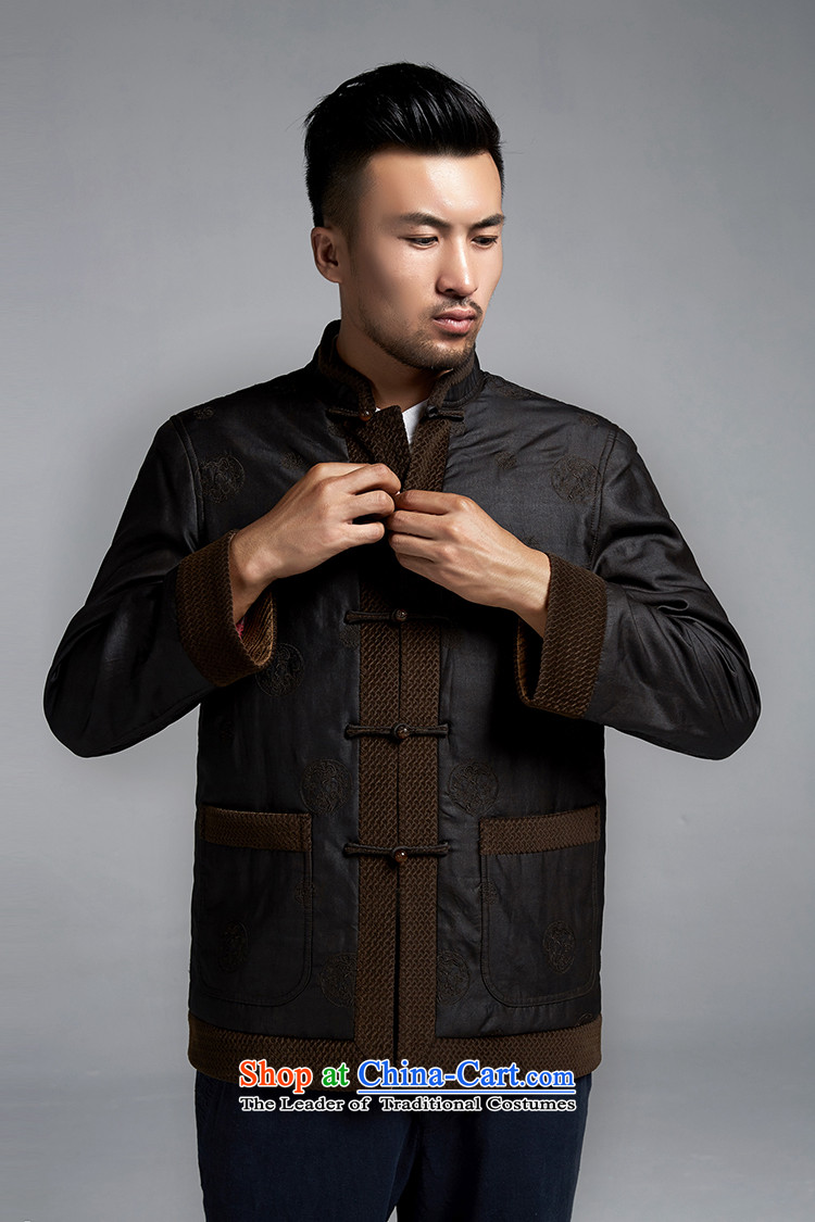 Fudo de Man Days drunken upscale Tang dynasty long-sleeved jacket for autumn and winter 2015 China wind older silk robe thick black聽46/L jacket, pictures, prices, brand platters! The elections are supplied in the national character of distribution, so action, buy now enjoy more preferential! As soon as possible.