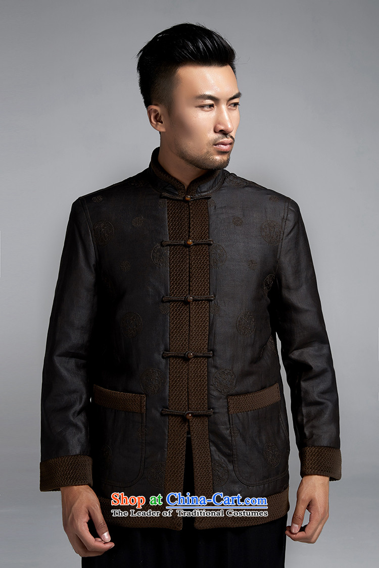 Fudo de Man Days drunken upscale Tang dynasty long-sleeved jacket for autumn and winter 2015 China wind older silk robe thick black46/L jacket, pictures, prices, brand platters! The elections are supplied in the national character of distribution, so action, buy now enjoy more preferential! As soon as possible.